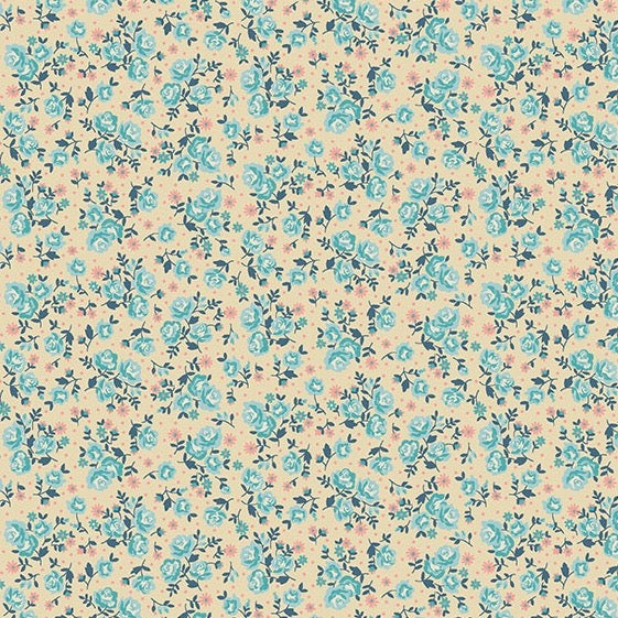 Stitch in Time Ditzy Floral Blue