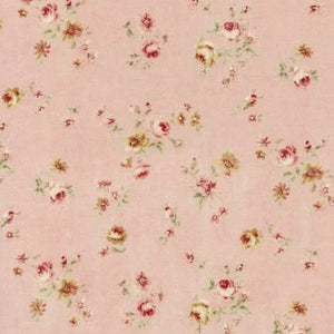 Lecien Durham Quilt Collection 2019 Small Roses on Pink Fabric