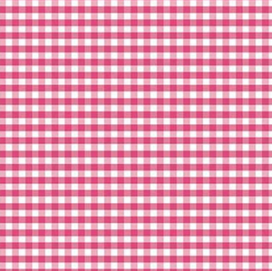 Riley Blake Hot Pink Gingham with pink checks on white
