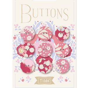 Tilda Plum Garden Fabric Covered Buttons