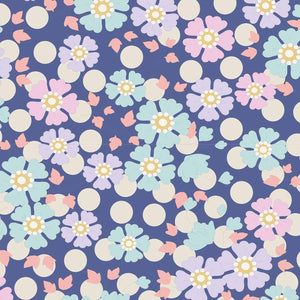 Tilda Plum Garden Windlfower Blueberry quilt fabric
