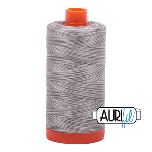 Aurifil 50wt Thread - Variegated Silver Fox 4670