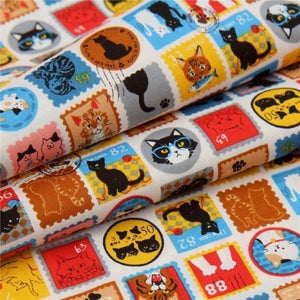 Colourful Cat Stamps