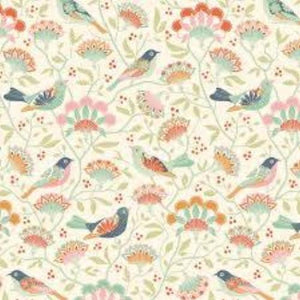 Tilda Harvest Bird Tree Ginger Fabric