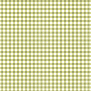 Wild Rose Flannel Green Gingham