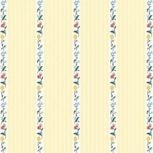 Bunnies & Cream Yellow Stripe