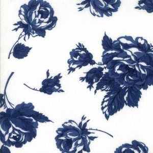 Bonnie & Camille Smitten Navy Rosy Lawn fabric by Moda