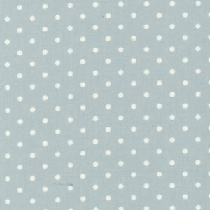Lecien Durham Quilt Collection 2019 Dots on Blue Fabric