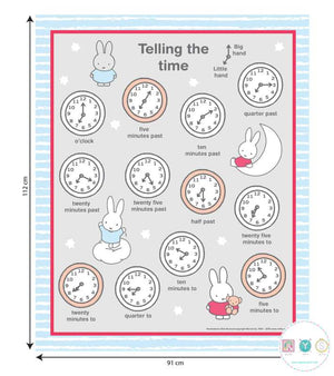 Miffy Telling the Time Panel