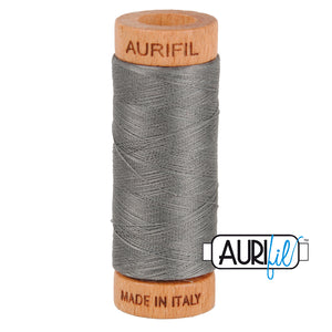 Aurifil 80wt Thread - Grey Smoke 5004