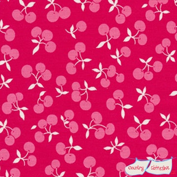 Quilt Fabric - Fog City Red Cherries