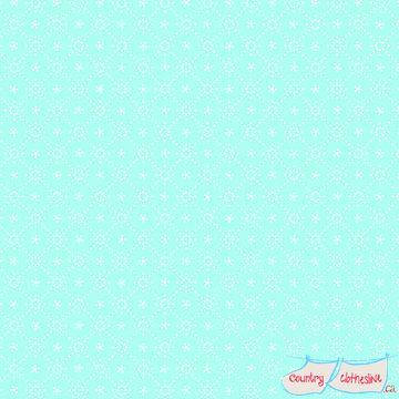 Quilt Fabric - Holly Hobbie Aqua Diamond