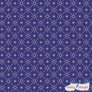 Quilt Fabric - Holly Hobbie Navy Diamond
