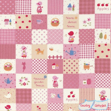 Quilt Fabric - Holly Hobby Pink Patchwork