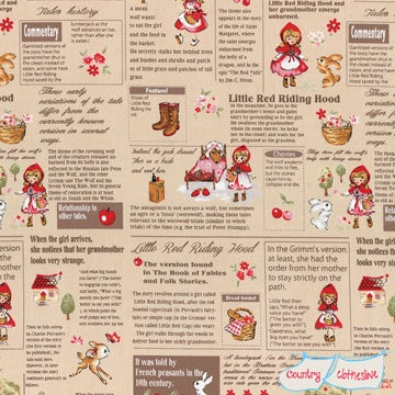 Quilt Fabric - Little Red Dictionary