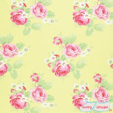 Quilt Fabric - Lola Roses Yellow