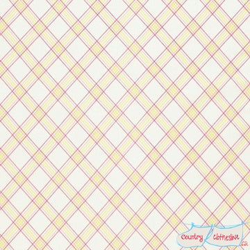 Quilt Fabric - Lola Yellow Criss Cross