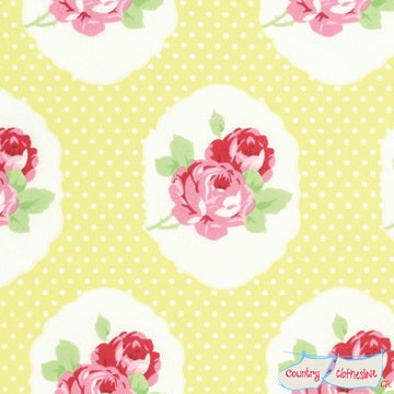 Quilt Fabric - Lola Yellow Frames