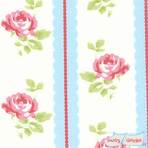 Quilt Fabric - Lulu Roses Lilah Blue