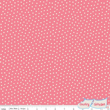 Quilt Fabric - Paper Dolls Pink Dot