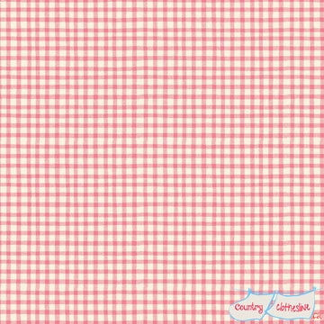 Quilt Fabric - Paper Dolls Pink Gingham