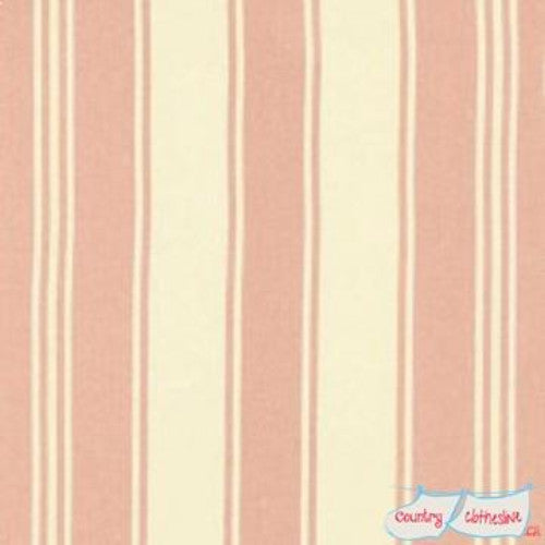 Quilt Fabric - Petal Sateen Pink French Stripe