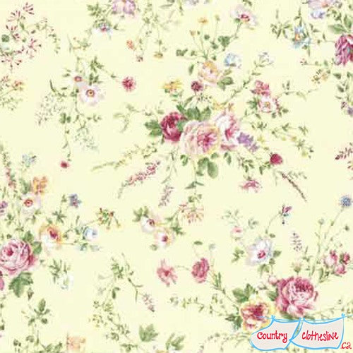 Quilt Fabric - Rococo & Sweet Rose Sprays