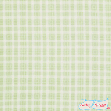 Quilt Fabric - Rosey Green Plaid
