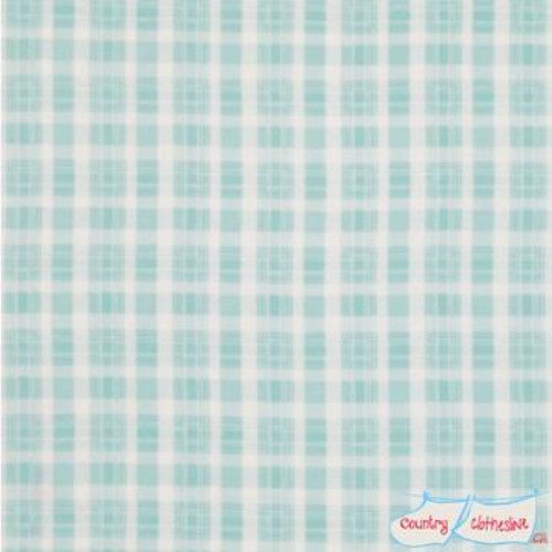 Quilt Fabric - Rosey Plaid Blue