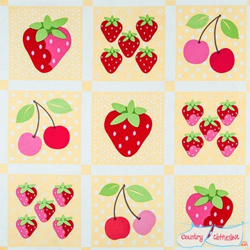 Quilt Fabric - Sunrise Studio Berries Panel