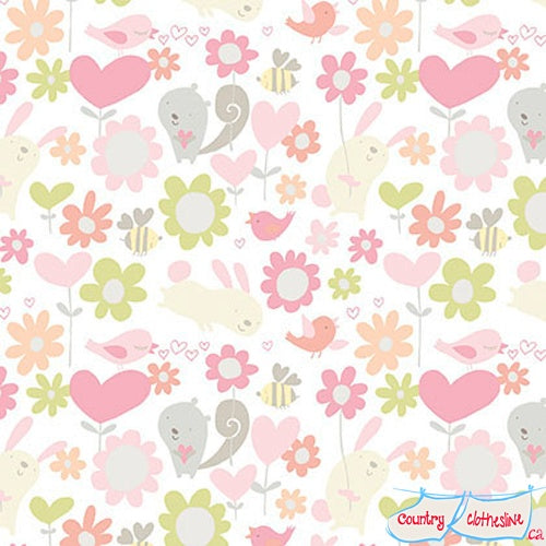 Quilt Fabric - Sweetheart Posie Hugs