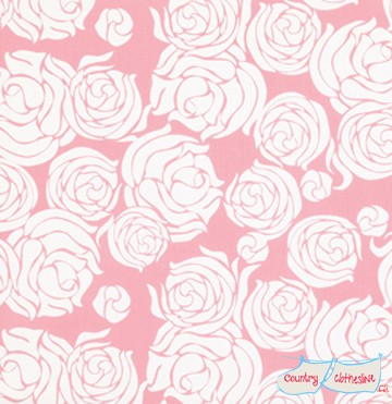 Quilt Fabric - Tailored Coral Rose