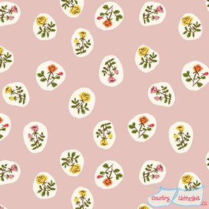 Quilt Fabric - Tiger Lily Small Blush Roses