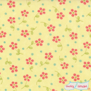 Quilt Fabric - Tiny Sunny Blossoms