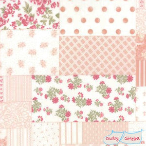 Quilt Fabric - Whitewashed Cottage Patchwork