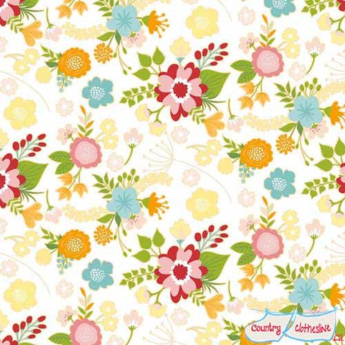 Quilt Fabric - Wistful Winds Main White