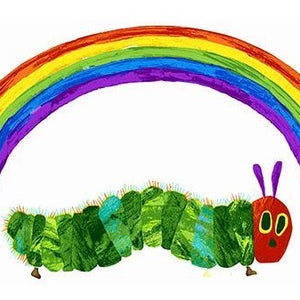 The Very Hungry Caterpillar Rainbow Panel White