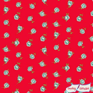 Katie Jane Rose Red fabric by Makower