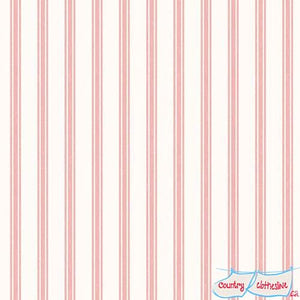 So Darling Rose Ticking Stripe fabric by Lewis and Irene