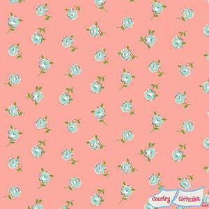 Katie Jane Rose Pink fabric by Makower