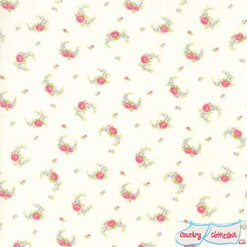 Guernsey Linen Elizabeth Rose Swag fabric by Brenda Riddle
