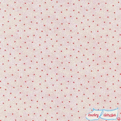 Penny's Dollhouse Dots Red by Darlene Zimmerman for Robert Kaufman
