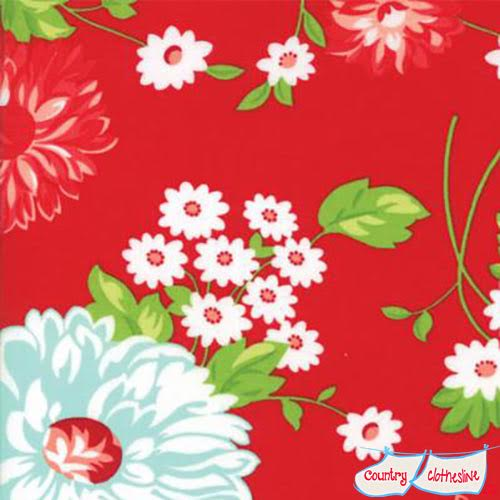 Bonnie & Camille The Good Life Floral Scrumptious red fabric