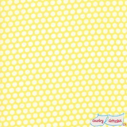 Bonnie & Camille Basics Yellow Bliss Dot Quilt Fabric