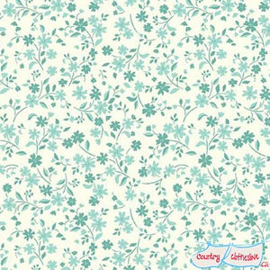 Katie Jane Tonal Floral Turquoise