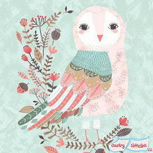 Forest Owl Friends Panel fabric for Clothworks