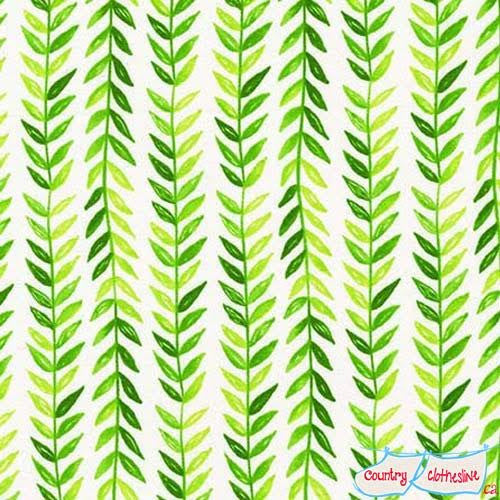 Frolic Tresse Lime fabric by Tamara Kate for Michael Miller