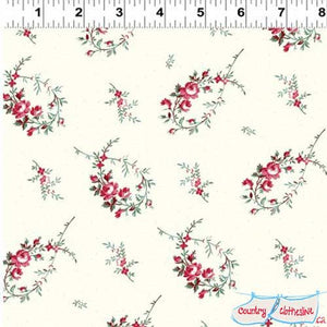 Raspberry & Cream Floral Branches