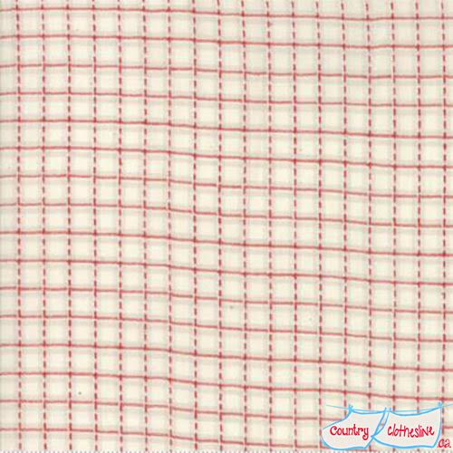 Snowberry Dobby Check Snow Woven Fabric by 3 Sisters for Moda