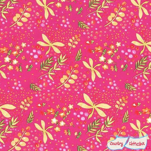 Frolic On the Wing Raspberry fabric by Tamara Kate for Michael Miller